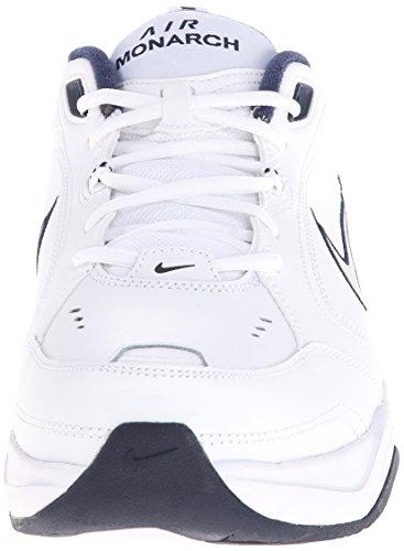Nike Air Monarch IV, Zapatillas de Gimnasia Hombre, Blanco (White/Metallic Silver/Midnight Navy 102), 45 EU