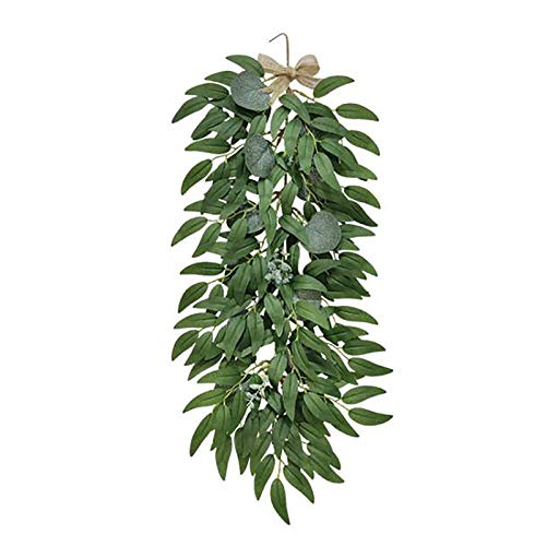 YLSZHY Pack of 4 Artificial Eucalyptus Hanging, Fake Hanging Plant Vine Fake Leaves Greenery Garland Decor for Indoor Outdoor Wedding Party Home Wall Decoration
