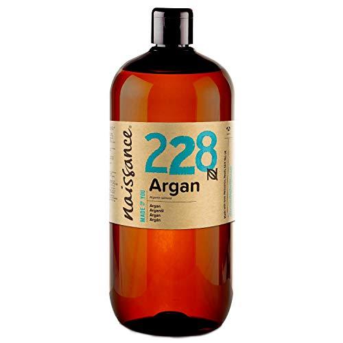 Naissance Olio di Argan del Marocco 1L - Puro e Naturale, Anti-età, Antiossidante, Vegan, Senza Esano, Senza OGM - Idratante Naturale per Viso, Capelli, Pelle, Barba e Cuticole