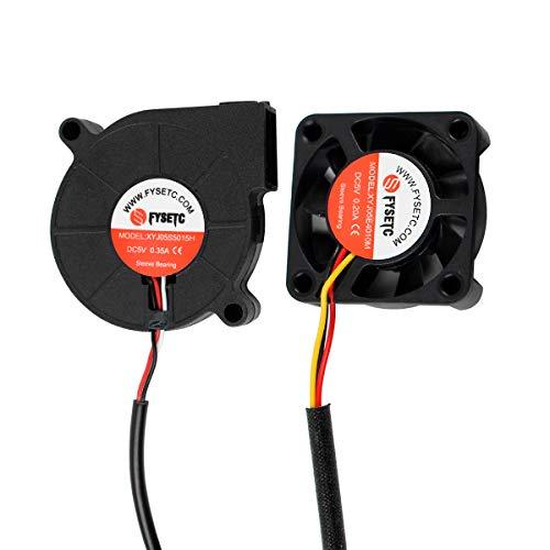 BCZAMD 3D-Drucker Prusa Zubehör Lüfter Kühlbolzenlüfter DC 5V 4010 5015 Set Hotend Druckkühler Kühler für Prusa i3 MK3 Teile, 2er-Pack.