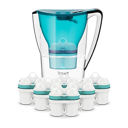 BWT Wasserfilter PENGUIN 2.7 l türkis mit 6 Filterkartuschen Zinc + Magnesium Mineralized Water | Immunsystem schützen mit Zink | Halbjahres-Vorrat an Kartuschen