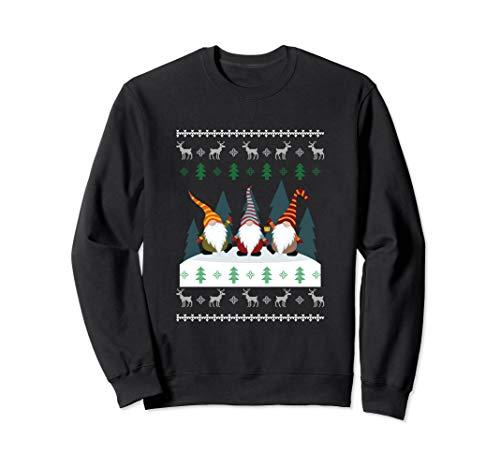 Süßer Garten Gnome Weihnachten Elfenfeiertag Hässliche Sweatshirt
