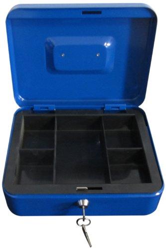 Domus 9313A Cassetta Portavalori con Vassoio Portamonete, Blu
