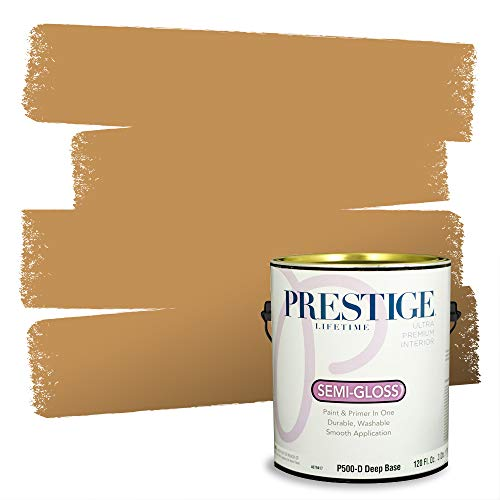 Prestige Paints Interior Paint and Primer In One, 1-Gallon, Semi-Gloss, Comparable Match of Sherwin Williams* Bosc Pear*