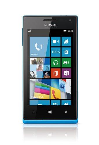 Huawei Ascend W1 Smartphone (10,2 cm (4 Zoll) Touchscreen, 5 Megapixel Kamera, 4 GB Interner Speicher, Win 8) blau