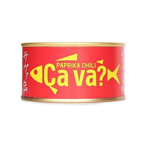 岩手県産サヴァ缶 国産サバのパプリカチリソース味 170g 缶詰 サバ缶 おつまみ [並行輸入品]