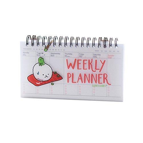 Cute Notitzbuch Weekly Day Plan Time Organizer Stuff Notebook Spirale Agenda