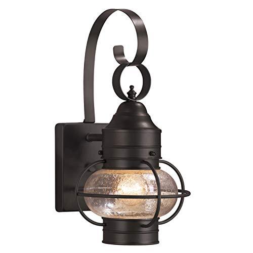 Portfolio Trevett 14-in H Matte Black Outdoor Wall Light