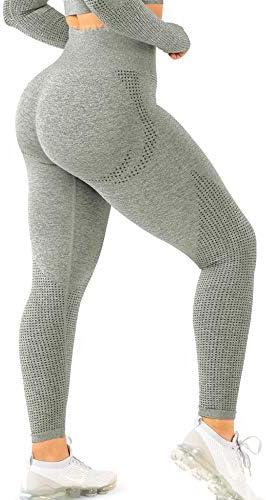 TSUTAYA Seamless Leggings High Waisted Women s Yoga Pants Workout Stretchy Vital Activewear product image
