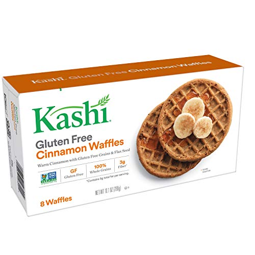 Kashi, Frozen Waffles, Cinnamon, Gluten Free and Vegan, 10.1oz Box