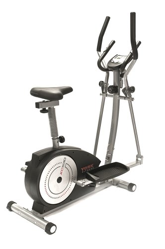 York Fitness 2-in-1 Crosstrainer Ergometer XC530, schwarz/silber