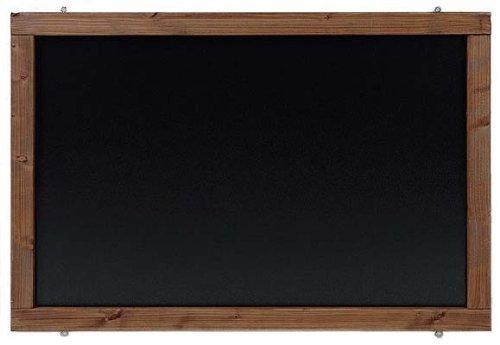 Rustikale Tafel Kreidetafel Wandtafel Küchentafel mit Holzrahmen zur Beschriftung mit Kreide im Landhausstil in verschiedenen Größen und Farben (Kolonial, 60x90cm)