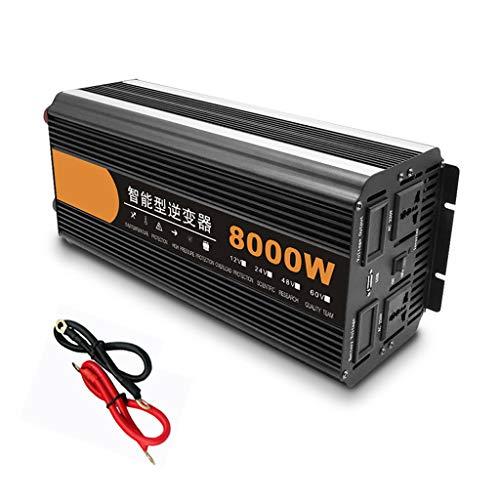 Hochleistungs-Wechselrichter 8000 W, Intelligenter Wechselrichter, 12 V / 24 V Gleichstrom, 240 V Wechselstrom, Mit USB-Anschluss Und 2 AC-Ausgängen, LED-Spannungsanzeige
