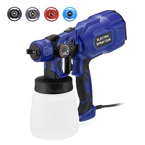 Paint Sprayer, Powerextra Upgraded 750 Watt High Power Electric Spray Gun, 3...