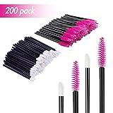 200 PCS Disposable Makeup Applicators Eyelash Brushes Lip Brushes Mascara Wands...