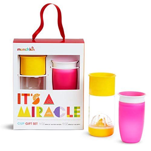 Munchkin Set De Regalo De Vaso Miracle 360 It\'S A Miracle, Rosa/Amarillo 1 unidad 530 g