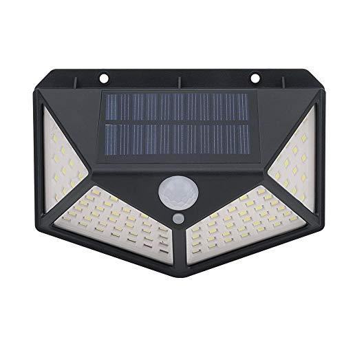 100 LED Lámpara Solar al aire libre Sensor de movimiento PIR Luz solar Luz de pared impermeable Luz solar con energía solar Decoración de jardín