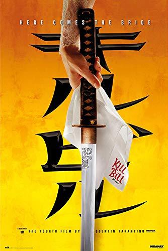 Poster Kill Bill Vol. 1 - Here Comes The Bride (61cm x 91,5cm) + 2 tringles Transparentes avec Suspension