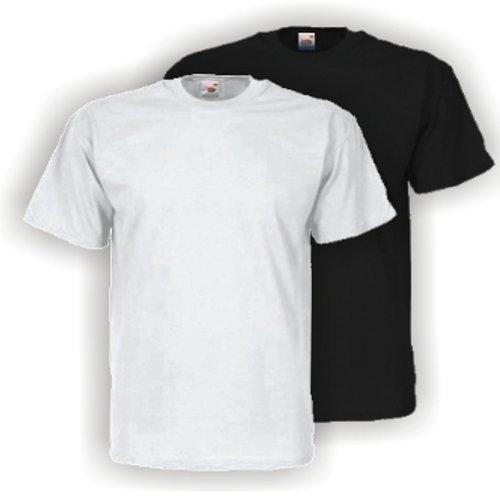5 X Fruit of the Loom Herren T-Shirt Valueweight T zum Sparpreis - weiß oder schwarz S M L XL XXL Large,Weiß