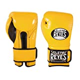Cleto Reyes Hook and Loop Boxing Training Gloves, Yellow, 14 OZ