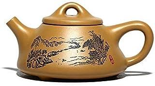 Tea Set Handmade Yixing Teapot Household Landscape Kettle Famous Authentic Drinkware Send Box Tea Set Perfect Gift