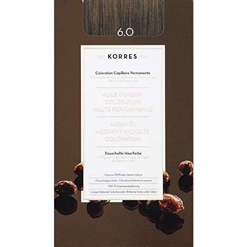 Korres - Coloration Huile D'Argan Dark Blond N°6.0 - La Boite De 145Ml - Vendu par pièce - Livraison Gratuit en France