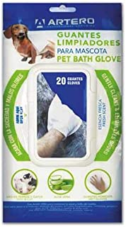 ARTERO Guantes Higiénicos Húmedos Limpiadores para Mascotas