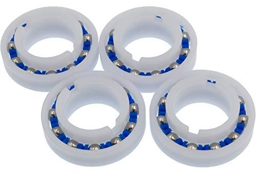 Lodd Pool - Juego de 4 rodamientos de bolas adaptables para rueda...