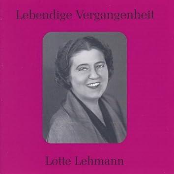 Lebendige Vergangenheit - Lotte Lehmann