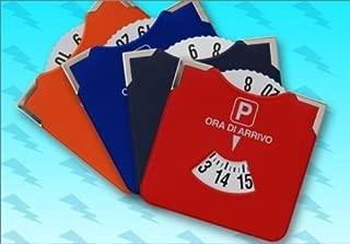 piel artificial Eighy Eight 13 x 11 cm Disco horario de aparcamiento con texto /«ORA DI ARRIVO/»