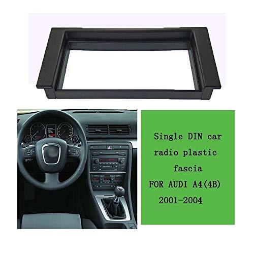 HUOGUOYIN Car Stereo Bluetooth 1din Radio de Coche Fascia en Forma for 2001-2004 Placa Audi A4 (4B) de la Cara del Panel de DVD estéreo Marco Tablero de Coches Kit de Fijación