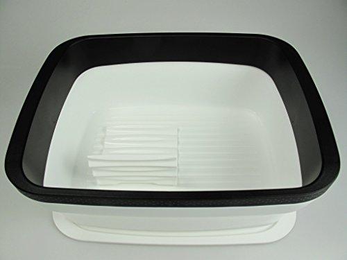 TUPPERWARE BrotMax 2 weiß schwarz mit Einsatz Brotkasten Brotwächter Brot&Co