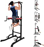 INTEY Power Tower, Torre Muscular Multifuncional, Entrenador de Abdominales, Espalda y Tríceps, Estabilidad, Pull-ups, Gimnasio Familiar