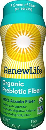 Renew Life Adult Fiber Supplement - Organic Prebiotic Fiber - Dietary Fiber - Gluten, Dairy & Soy Free - 11.9 Ounce (Packaging May Vary)