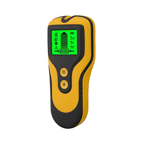 Stud Finder Sensor Wall Scanner 3 in 1 Metal/Voltage/Stud Detector with LCD Display for Wood Live AC Wire Metal Studs Detection (Yellow)