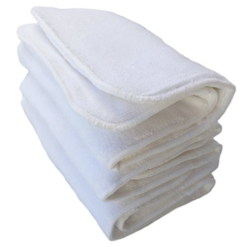 Happy Endings Teen / Adult Inserts for Cloth Diapers Incontinence ((3 Pack) 4 Layer Microfiber Inserts))