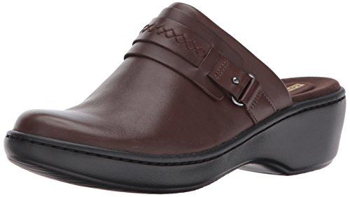 Clarks Women's Delana Amber Clog, Dark Brown Leather, 6.5 B(M) US
