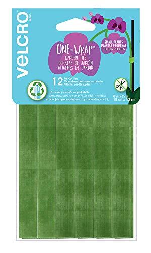 VELCRO Brand ONE-WRAP - Paquete de iniciación para contenedores de jardín o plantas de interior, plástico reciclado, 15,24 x 1,27 cm