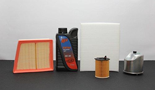 Inspectie met 4 filters (lucht-olie-interieur-brandstof) + 4 liter olie