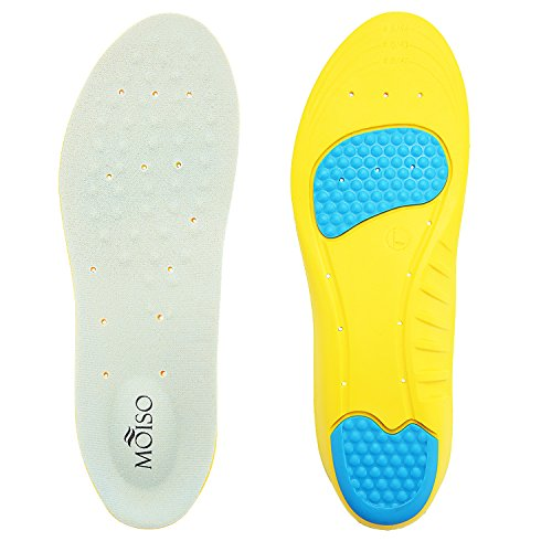 MOISO Memory Foam Orthotic Insoles for Plantar Fasciitis with Arch Support Shock...