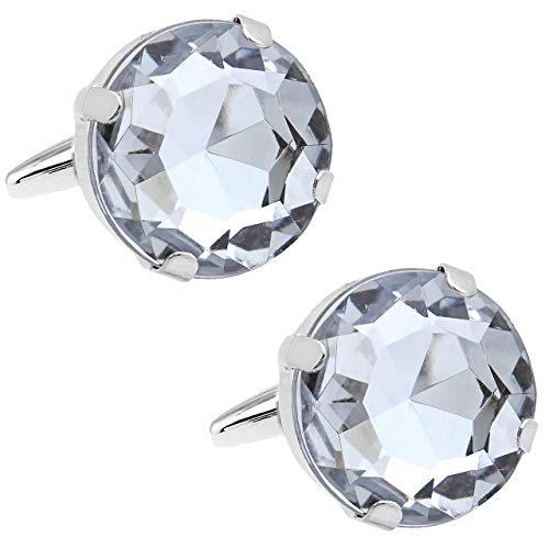 クリアー ダイヤモンド スタイル クリスタル カフス カフスボタン n02496