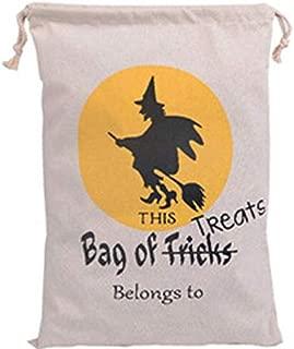 chanqian Trick Or Treat Bags Canvas Spider Web Party Decorations DIY Event Party Supplies Sacks Bag Pumpkin , 36cm*44cm