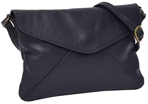 Gusti Leder \'Karisma\' Umhängetasche Handtasche Ledertasche Vintage Schwarz Leder