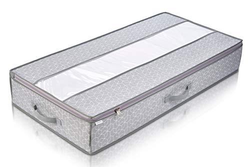 Babylovit Unterbett Aufbewahrungstasche mit Sichtfenster   Kleideraufbewahrung & Organisation   Aufbewahrung von Bettdecken, Kissen & Wäsche   Tasche für Umzug