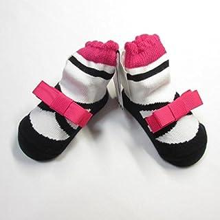 [バレリーナ―ト] mudpie ベビー靴下,0ヶ月~1歳,黒バレエシューズ