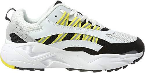 UMBRO Herren Neptune Fitnessschuhe, Weiß (Black/Yellow/Grey Hur), 43 EU