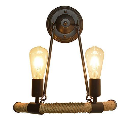 Nordic Retro Minimalistische Balkon Trap Light Halfrond Henneptouw Muur Lamp LED wandlamp Wandlamp for Living Room Slaapkamer Verlichting