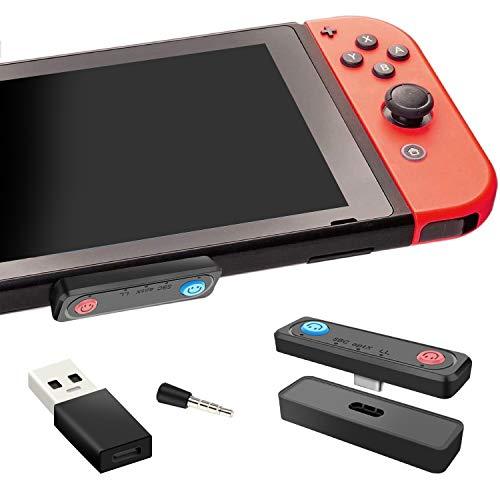 【Bluetooth5.0&aptXLL低遅延】Switch/lite用 Bluetooth オーディオアダプター トランスミッター Bluetoothヘッドセットアダプター 無線 ワイヤレス 超薄型 オーディオアダプター USB-C Bluetoothレシーバー 遅延なし Nintendo Switch/lite/PS4/PCに対応