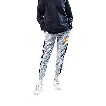 Ultra Game NBA Los Angeles Lakers Womens Active Basic Fleece Jogger Sweatpants Space Dye Gray X-Large