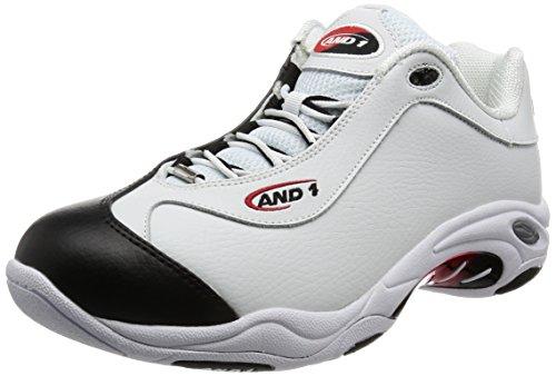 And1 Tai Chi Low, Zapatos de Baloncesto Hombre, Blanco (White/Black-F1 Red), 44 EU